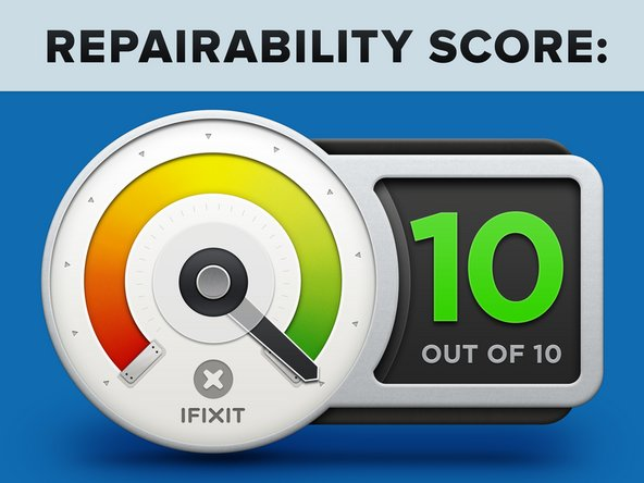 The Fairphone 3 earns a 10 out of 10 on our repairability scale (10 is the easiest to repair):