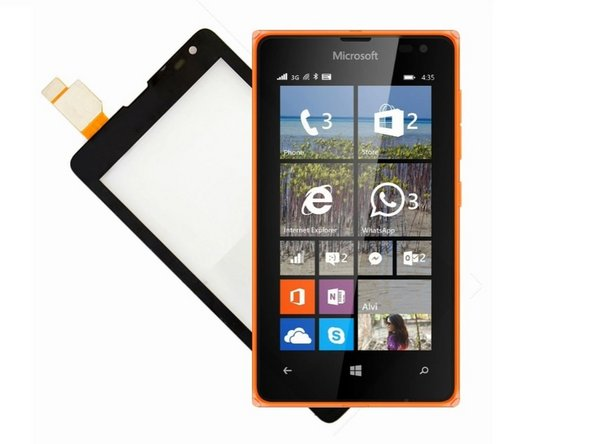 Microsoft Lumia 435 Touch screen Glass Only Replacement
