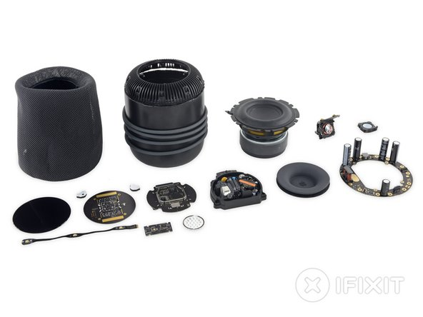 And with that: here are all the bits that make a Siri house a HomePod.
