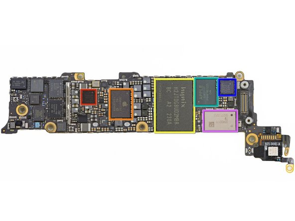 More chips on the underside of the logic board: