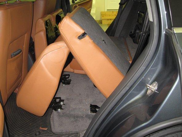 Remove the left seatback.