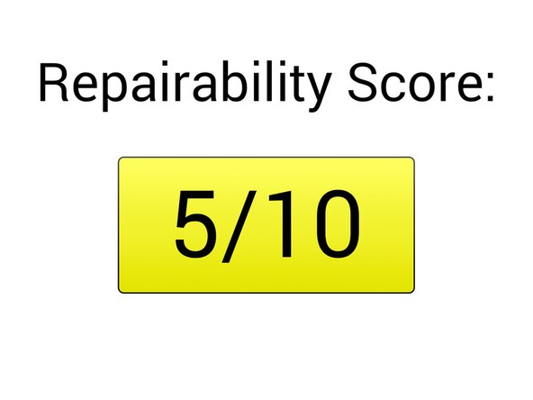 Overall repairability score: 5/10
