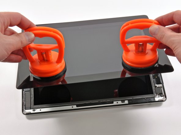 A heavy-duty display should only be removed with heavy-duty suction cups.