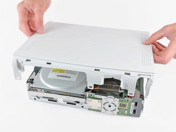 Remplacement du boîtier supérieur de la Xbox 360