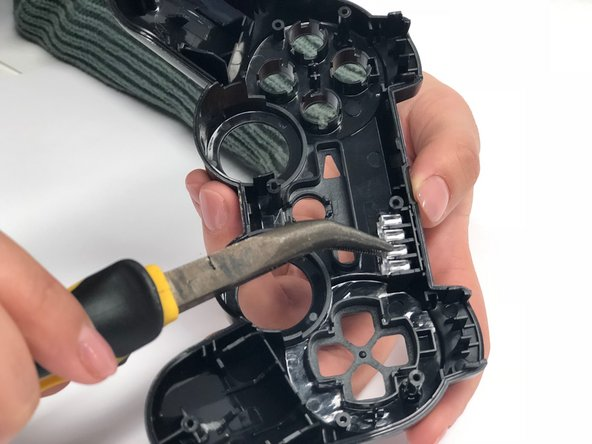 Remove the transparent plastic part covering the LED-lights by taking it out with a pair of pliers.