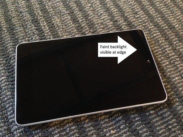Nexus 7 Black Screen Fix
