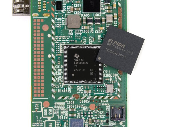 Last year, Amazon hid the Texas Instruments OMAP processor underneath the Hynix RAM chip, so that prompted us to roll up the sleeves and do some delayering.
