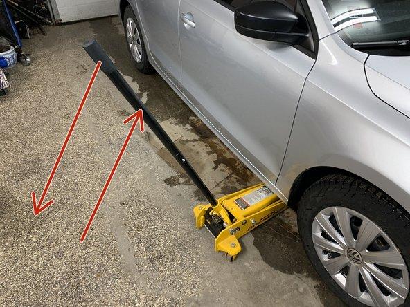 Pump car jack handle to raise up car