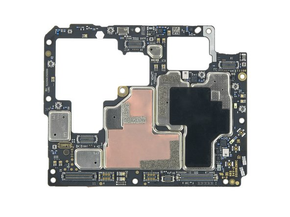Everything exciting on these dark boards is covered by heat dissipating copper or graphite foils.