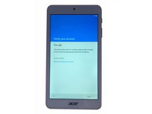 Acer Iconia One 7 B1-780 Bypass Google account