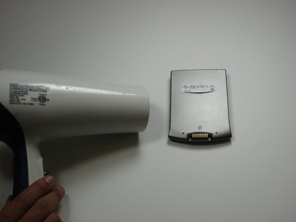 Heat the left and top edges with hairdryer for one minute.