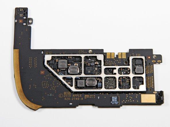 A reverse shot of the logic board.