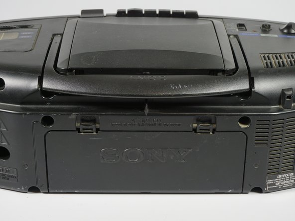 Sony CFD-8 Battery Replacement