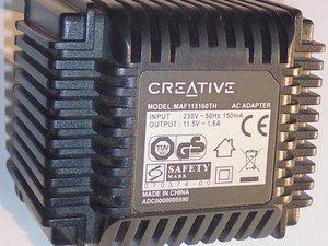creative ac adapter model maf115160th