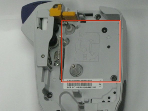 Brother TZ tape is required for this replacement process. We don't have the tape cassette but you should be able to insert tape cassette into the red marked area as shown in the picture.