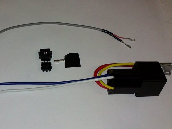 Connect Switching module BLUE wire into Pin 17 on the BLUE plug on your TV video module.