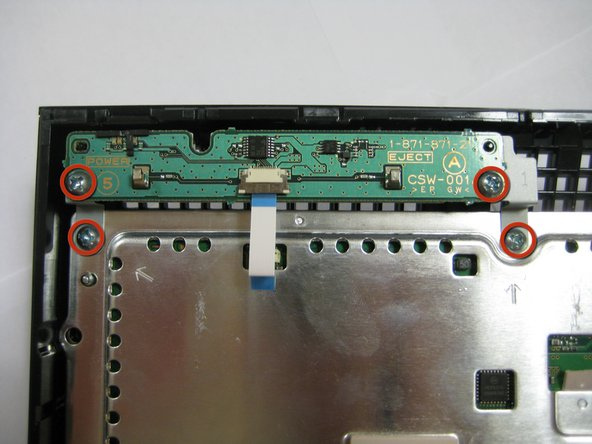 Remove the 4 Philips #2 screws retaining the circuit board to the case.