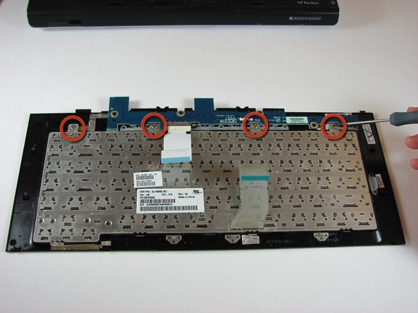This step is for replacing the keyboard only. If you are not replacing the keyboard, skip this step.