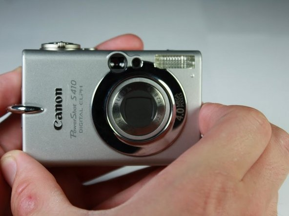 Rotate the camera so that the front is facing you.