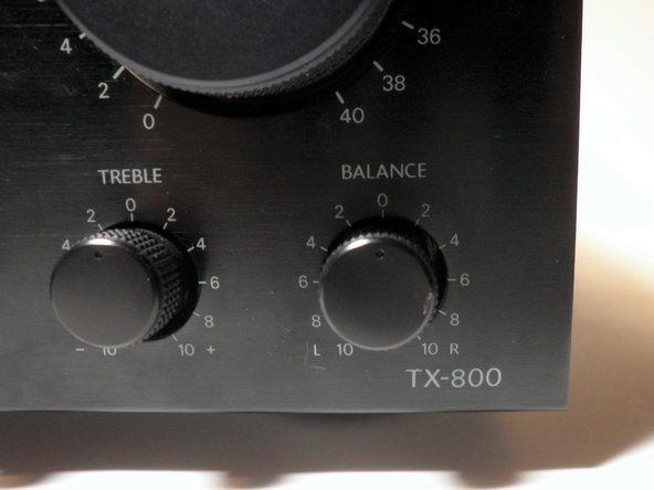 The balance knob is the rightmost knob on the front panel.