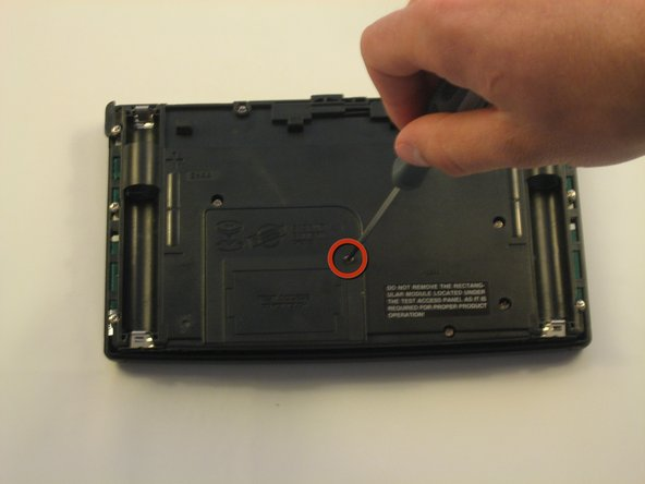 Unscrew the back-up battery cover. (1 screw)
