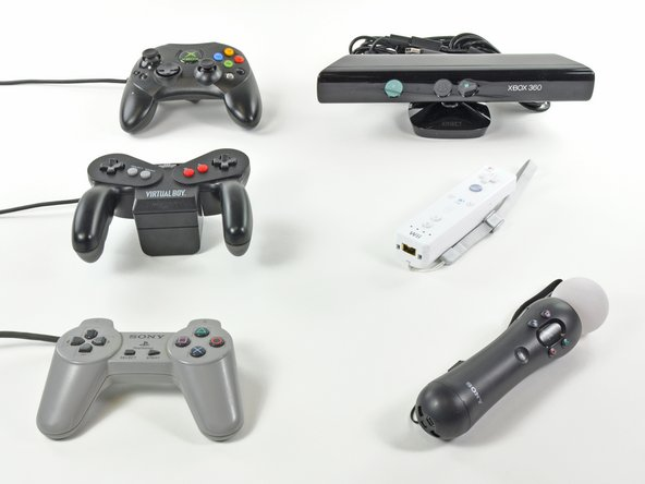 Controller evolution, game console style.
