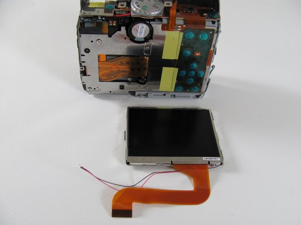 You can now remove the LCD from the camera body.