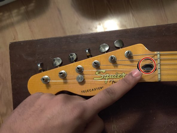 DO NOT do this too quickly. This step most likely won't be done on the first try. Make small adjustments, check the neck, and then adjust again. Turn your allen wrench A QUARTER OF A TURN AT A TIME.