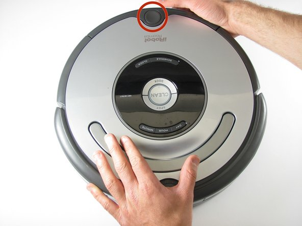 Remove the dust bin by pushing on the button for the dust bin removal