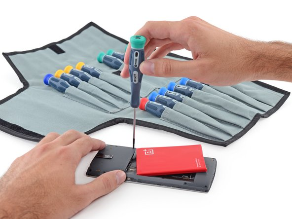 No matter—out go the first round of screws, thanks to our Pro Tech Screwdriver Set.