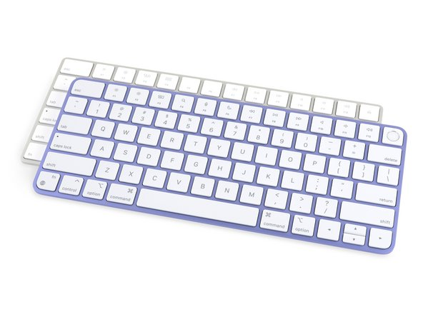 The bundled Magic Keyboard gets its first update since 2017, now featuring round-er corners, iMac-matching color choices, and reorganized function keys.