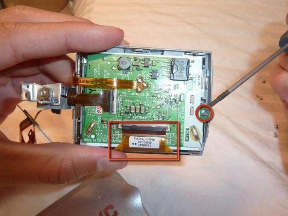Remove screw in circuit board.