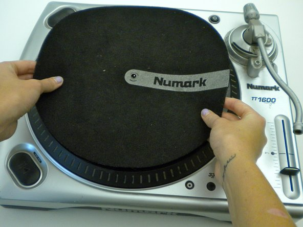 Remove slip mat from top of the platter.