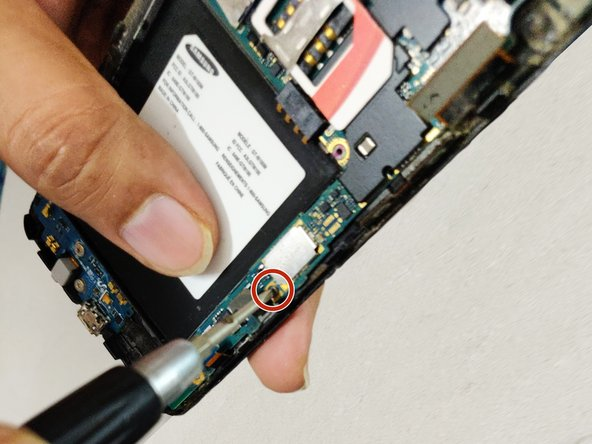 Remove the two 1.6 mm black head screws using the Phillips #00 screwdriver.