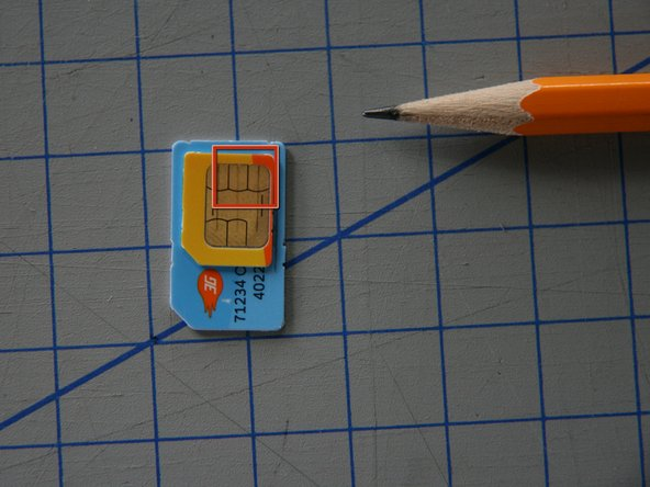 Use a pencil to trace the Micro-SIM on top of the older SIM-Card.