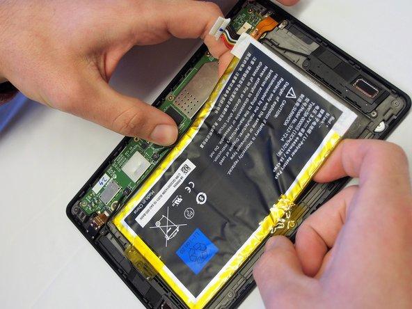 Peel battery away.