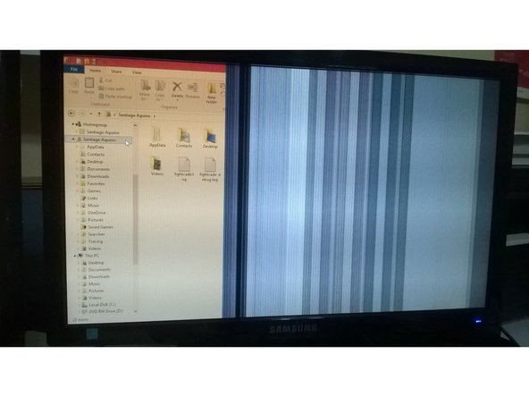 Repairing Samsung SyncMaster SA300 Flicker and Vertical Lines