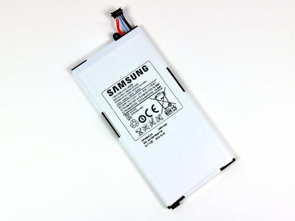 The 3.7V Li-Ion battery inside the Galaxy Tab lists a capacity of 14.8 Watt-hours or 4000 mAh.