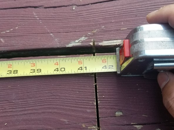 Measure the length of the floorboard to determine the size of the replacement floorboard.