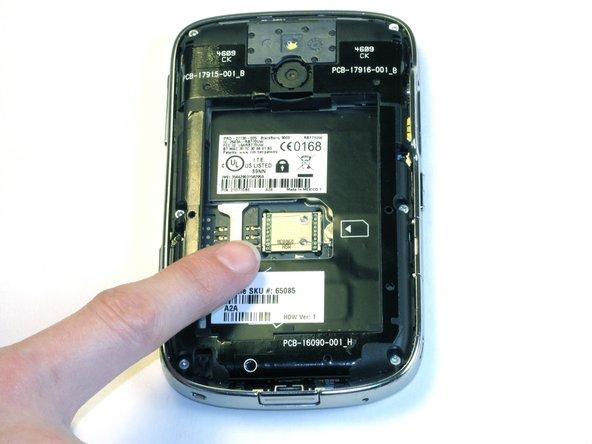Remove the SIM card.