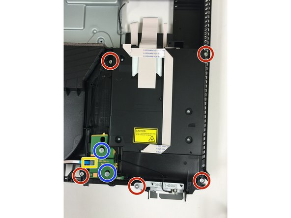 Remove small ribbon cable from optical drive.