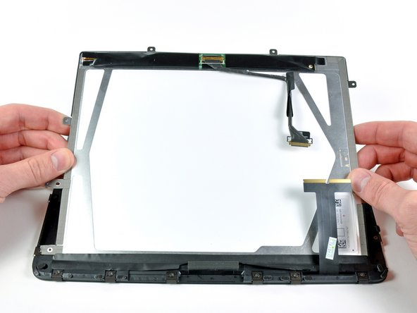 Be sure the face of the LCD is perfectly clean before proceeding.