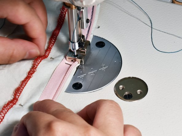 Sew a straight line carefully, removing pins as you go.
