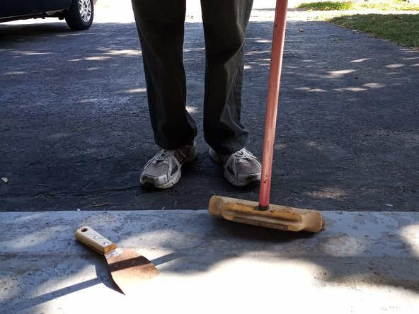 Remove debris and dust with a broom.