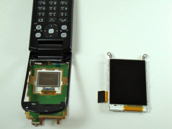 Disassembling KDDI Kyocera A5521K Main LCD Screen
