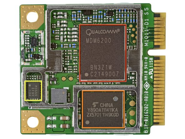 Turning our attention to the backside of the wireless card we find:
