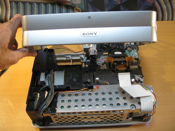 A look at the side and rear panel of the case removed