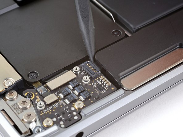 The right speaker will be on your lefthand side when working on the MacBook, as it's laying upside down.