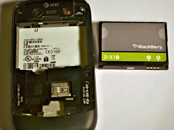 Remove the back cover and the battery from the device.