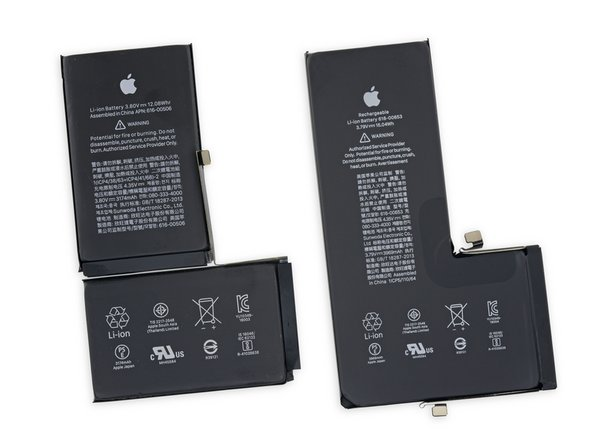 Looks like this year at Apple, big is in. The iPhone 11 Pro Max's powerhouse pumps out 3969 mAh at 3.79 V, for a total of 15.04 Wh. That's a whopping 2.96 Wh more than the XS Max battery, and 1.52 Wh less than the Galaxy Note 10+ 5G battery.